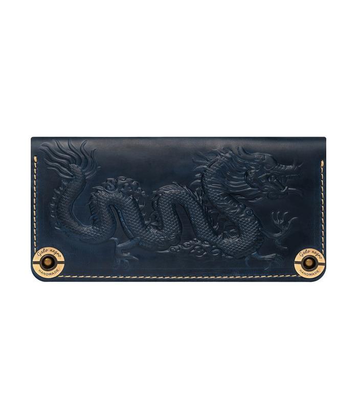 Купити шкіряний портмоне GN Dragon BU | Українське виробництво, натуральна шкіра