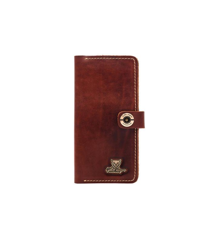 Купить кожаный портмоне GN Alfa One BR | Украинское производство, натуральная кожа