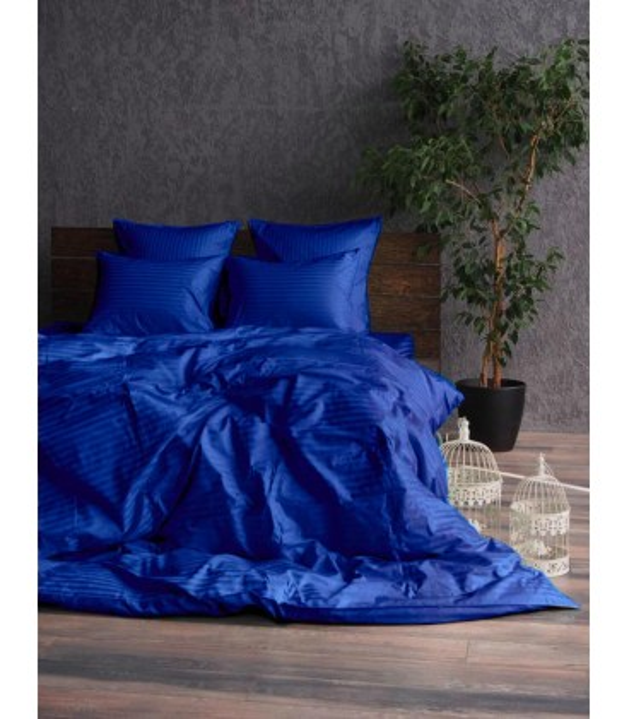 """Комплект постельного белья """"Electric"""" Сатин Stripe из 100% хлопка, полоса 1/1 см"""