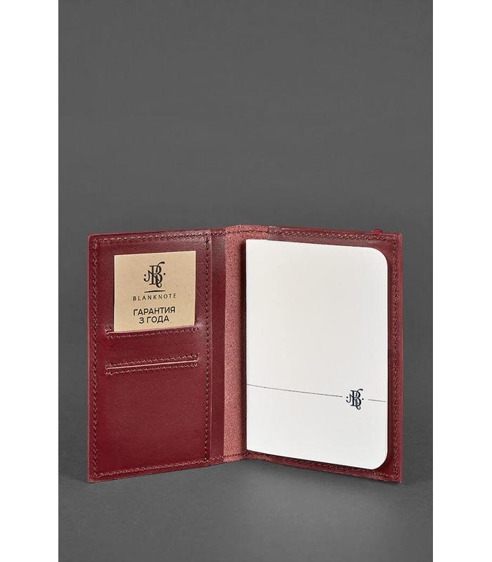Шкіряна обкладинка для паспорту 2.0 Виноград BU ᐉ Україна, натуральна шкіра