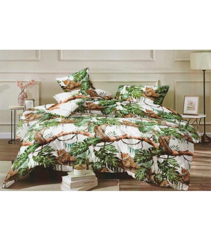 """Комплект постельного белья """"Ягуары"""" ᐉ ранфорс, хлопок, возможен индивидуальный пошив"""