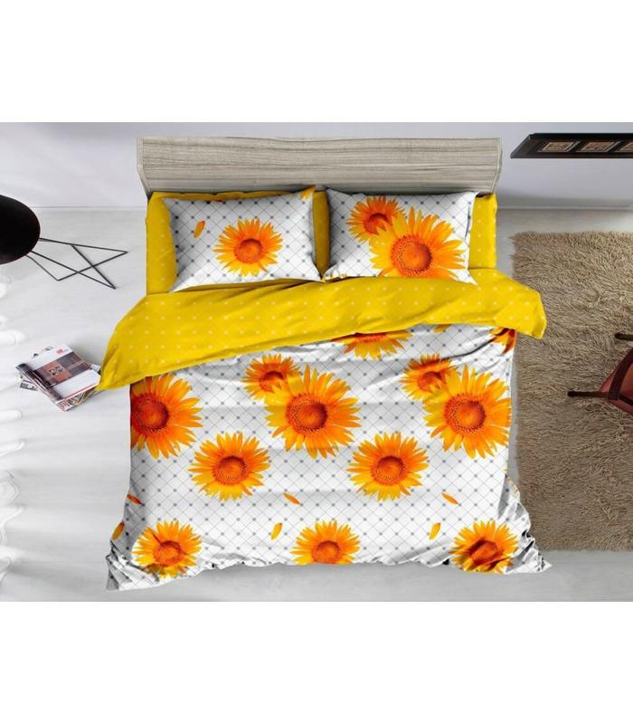 Комплект постільної білизни Соняшники ᗍ сатин ※ Україна, натуральна тканина