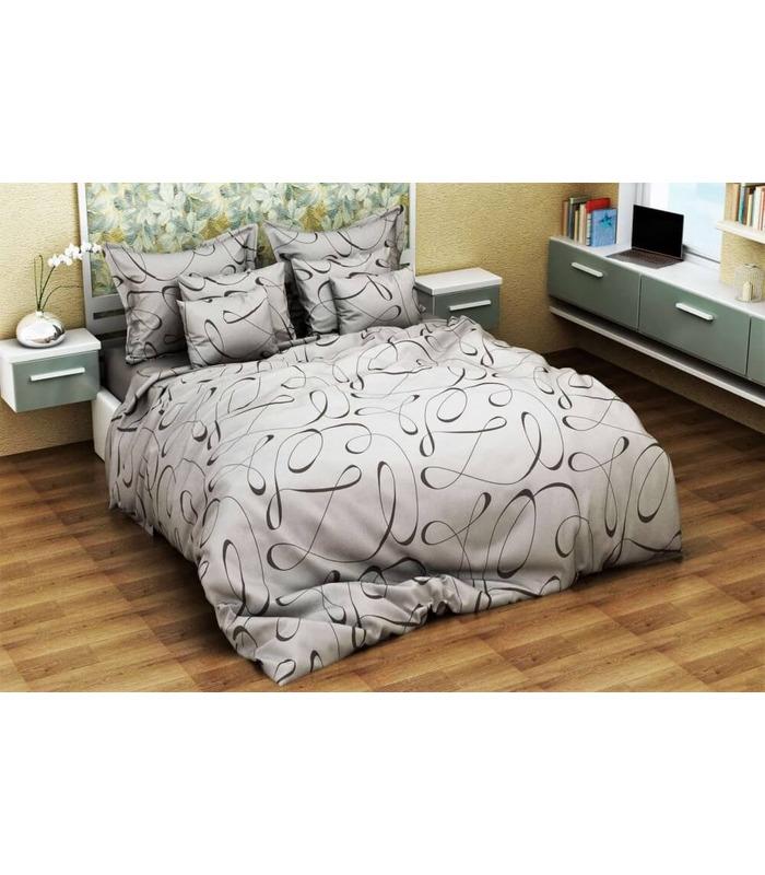 Комплект постельного белья Вуаль грей ᗍ бязь, Украина, натуральная ткань