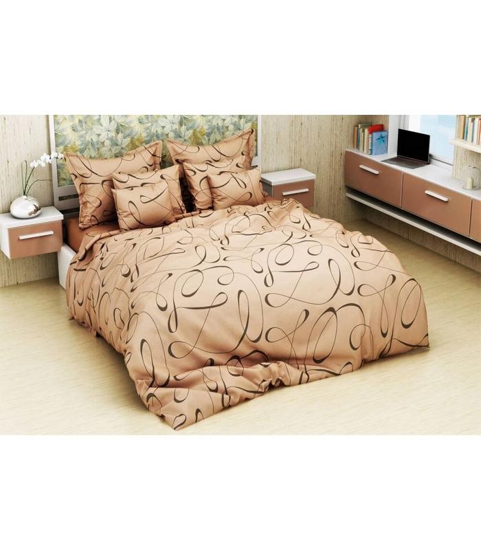 Комплект постельного белья Вуаль беж ᗍ бязь, Украина, натуральная ткань