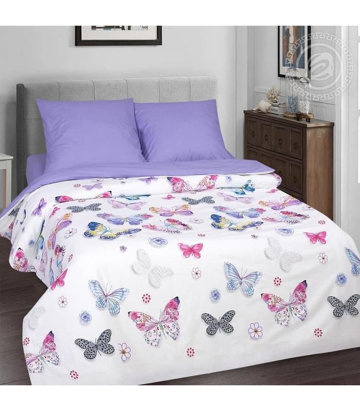 Комплект постільної білизни Метелики  ᐉ якісний поплін, доступна ціна ※ виробник Україна