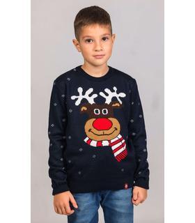 Детский вязанный свитер Весёлый Олень (мод.101).