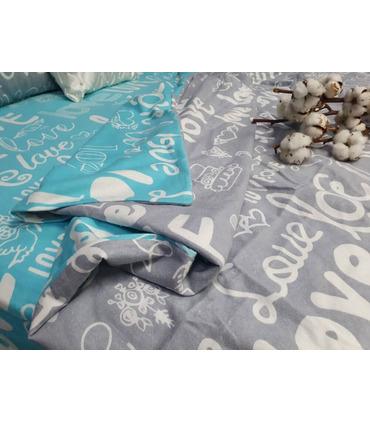 Комплект постільної білизни Лірика mix ᐉ фланель, Україна, натуральна тканина