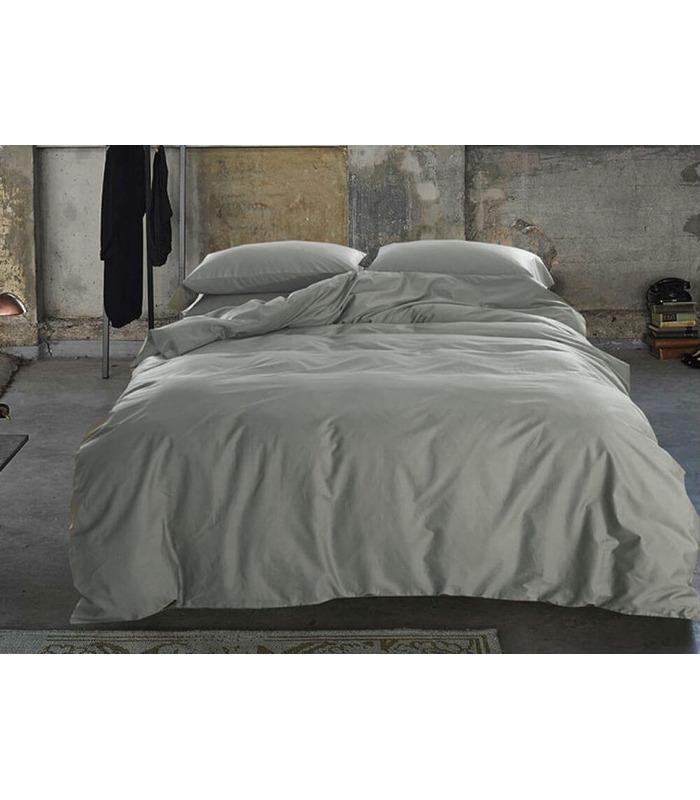 Комплект постельного белья Light Grey №251 ᗍ сатин ※ Украина, натуральная ткань