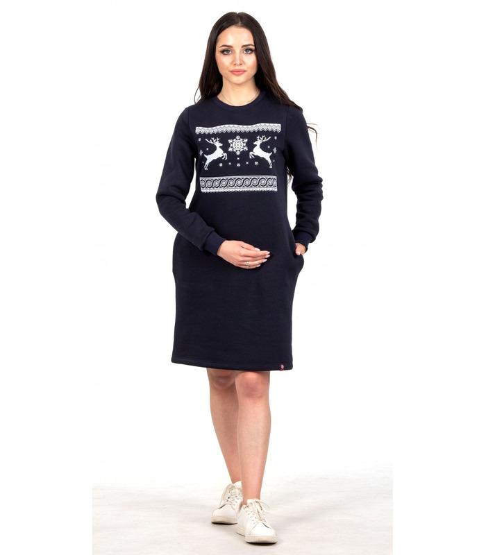 Вишитое платье Рождественское Чудо мод.604