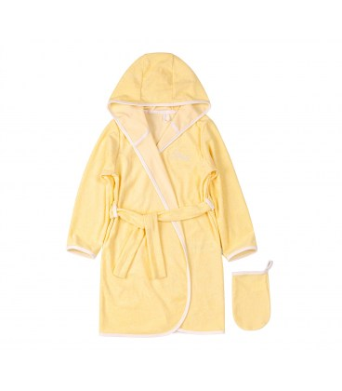 Комплект халат+мочалка КП256 YE