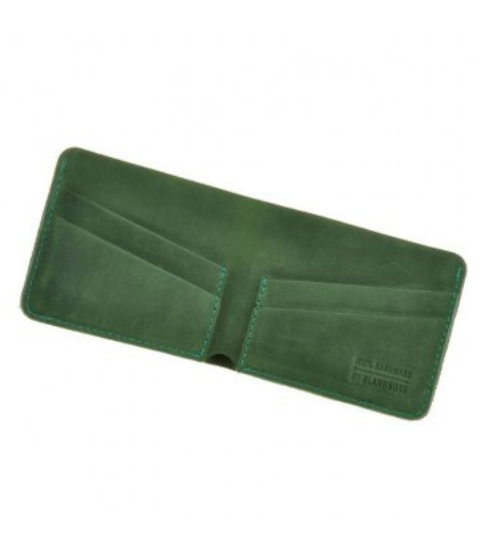 Шкіряне портмоне 4.1 з чотирма кишенями, Смарагд.