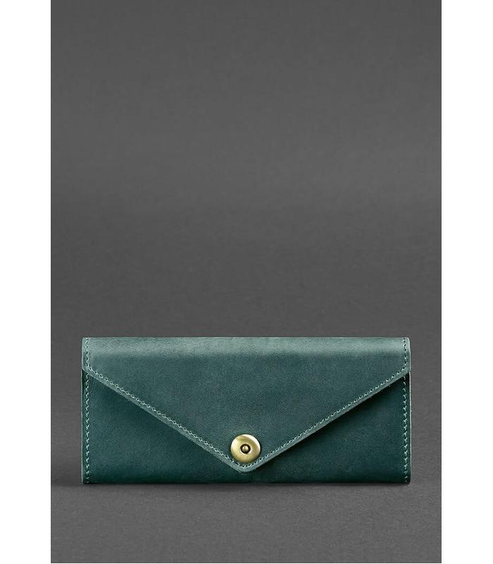 Кожаный кошелек 1.0 Изумруд ᐉ Женский кошелек из натуральной кожи на МамаТато