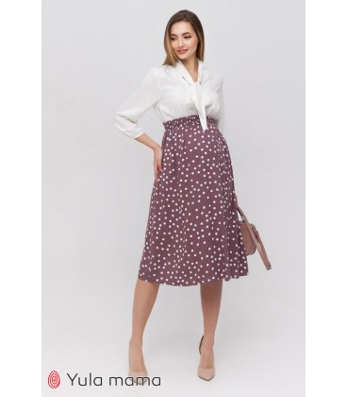Юбка Эдна, юбка для беременных в горошек