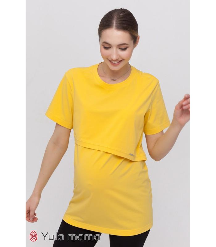 Туника Хоуп YE, желтая туника для беременных и для кормления