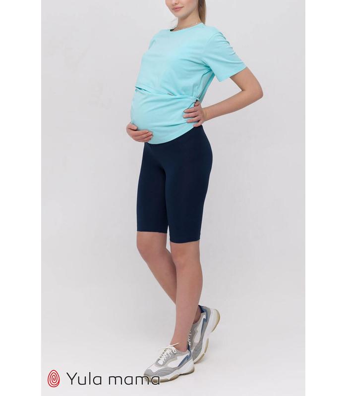 Велосипедки Джойс TS, синие велосипедки для беременных