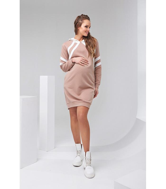 Сукня Харпер BG, бежева спортивна сукня вагітним та годуючим