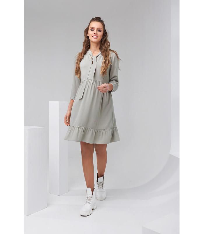 Платье Эвелин, короткое платье с бантом для беременных и кормящих