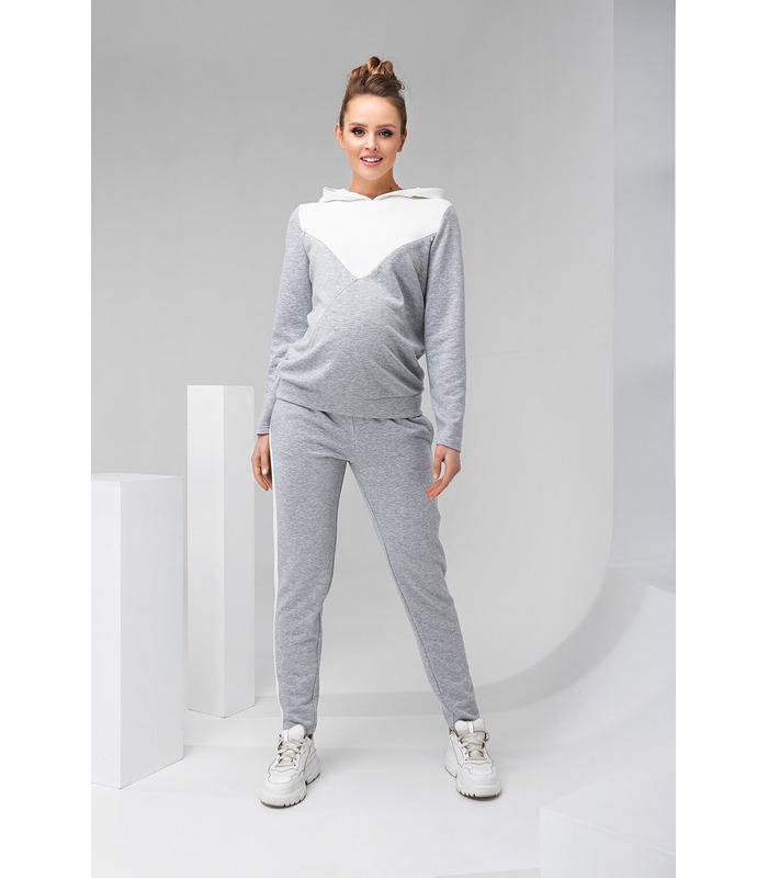 Костюм Мейбл, серый спортивный костюм для беременных и кормящих