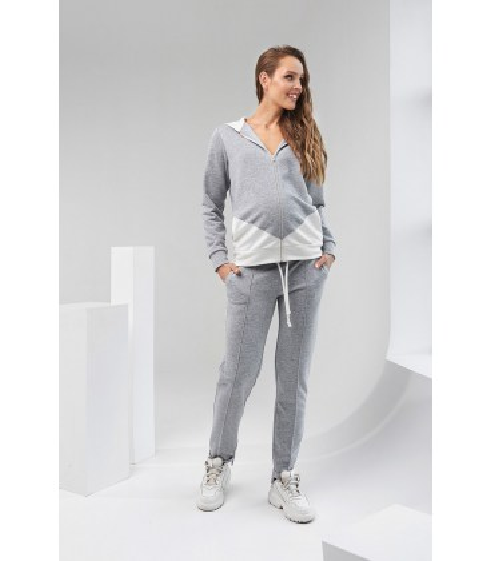 Костюм Тамика, серый спортивный костюм беременным и кормящим