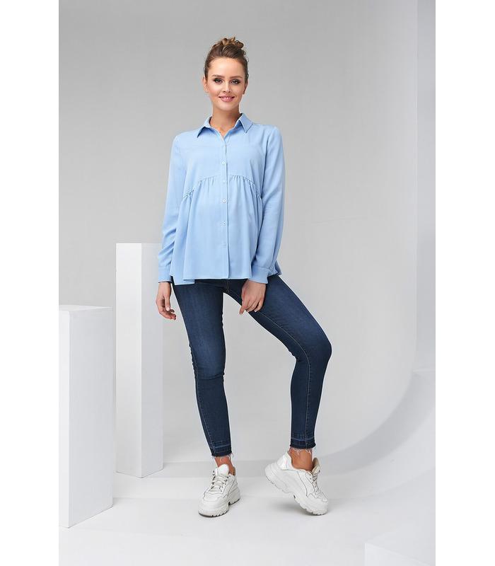 Блуза Эймей, голубая рубашка беременным и кормящим