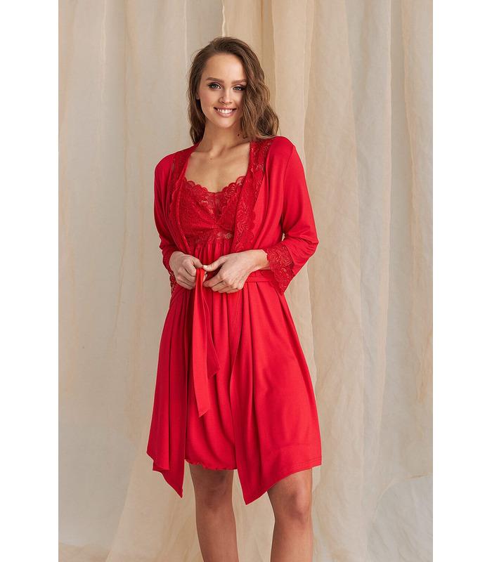 Халат Деми RE, красный халат для беременных и кормящих