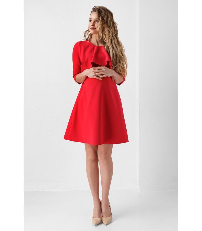 Платье Джоан RE, красное платье беременным и кормящим