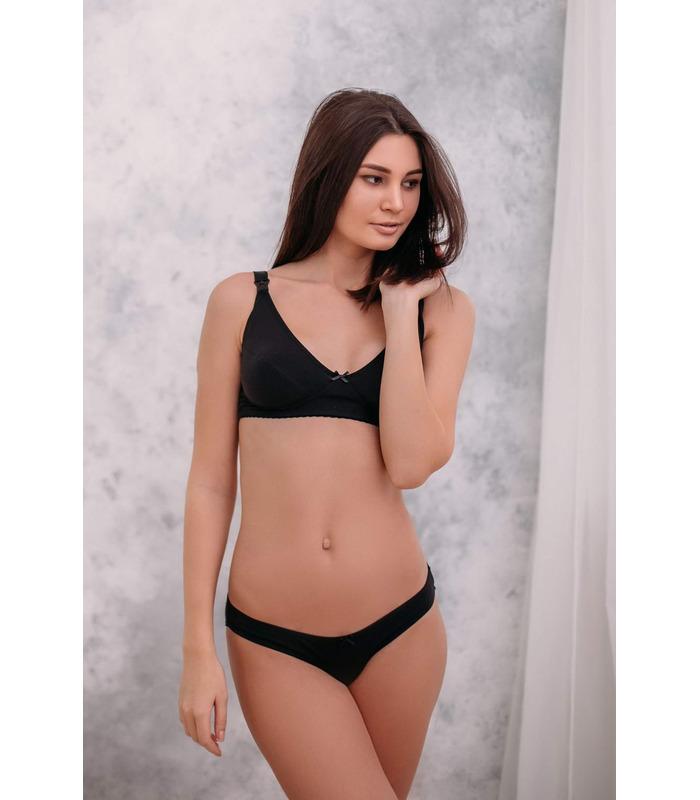 Комплект белья мод.556/517 CH, комплект черного белья беременным и кормящим