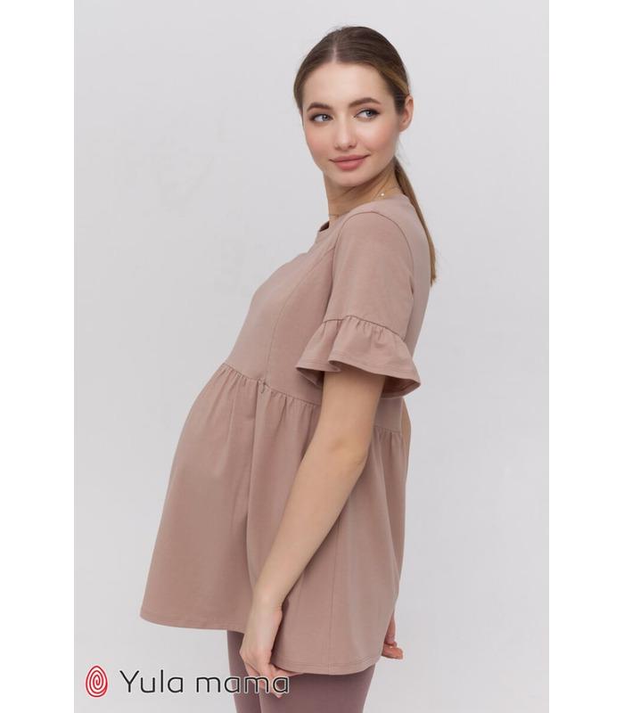Туника Мисти CA, туника с рюшами беременным и кормящим