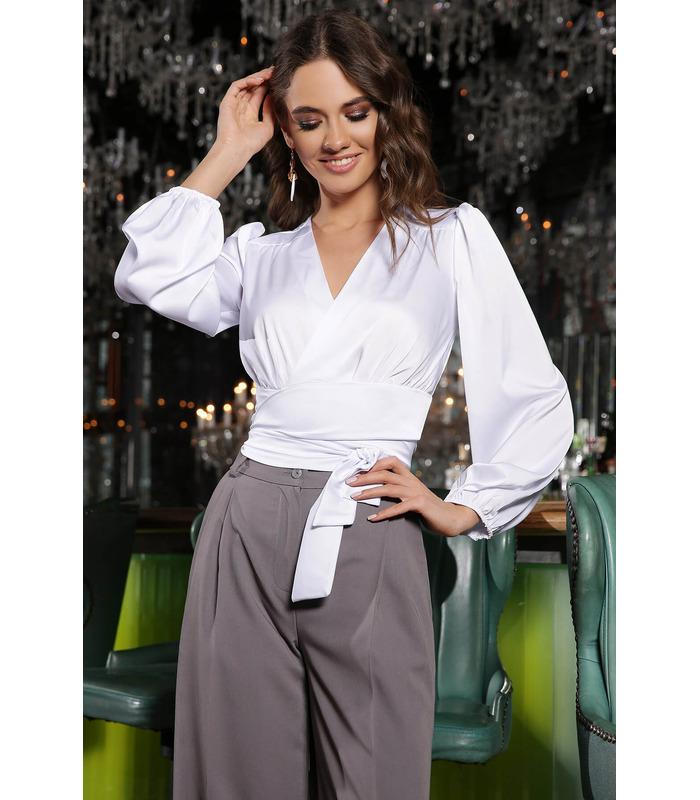 Блуза Айвори WH, белая шелковая блуза