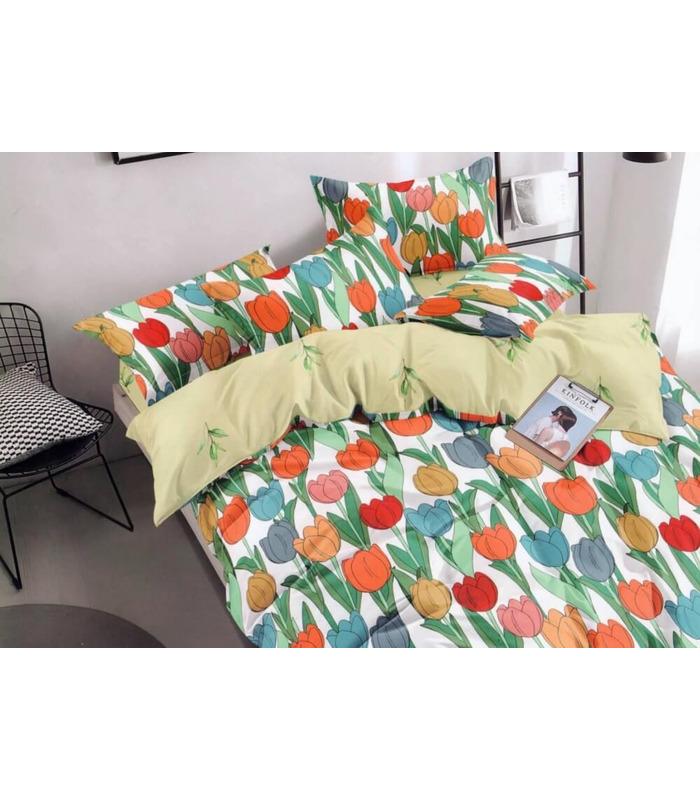 Комплект постельного белья Тюльпан ᗍ сатин ※ Украина, натуральная ткань