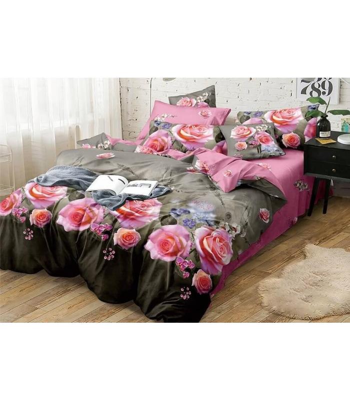 Комплект постельного белья Розалия ᗍ сатин ※ Украина, натуральная ткань