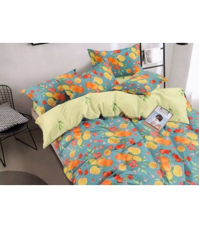 Комплект постельного белья Цитрус ᗍ сатин ※ Украина, натуральная ткань