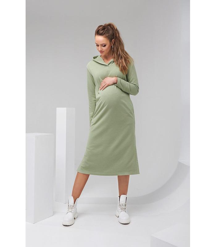 Платье Норма PH, зеленое спортивное платье беременным и кормящим