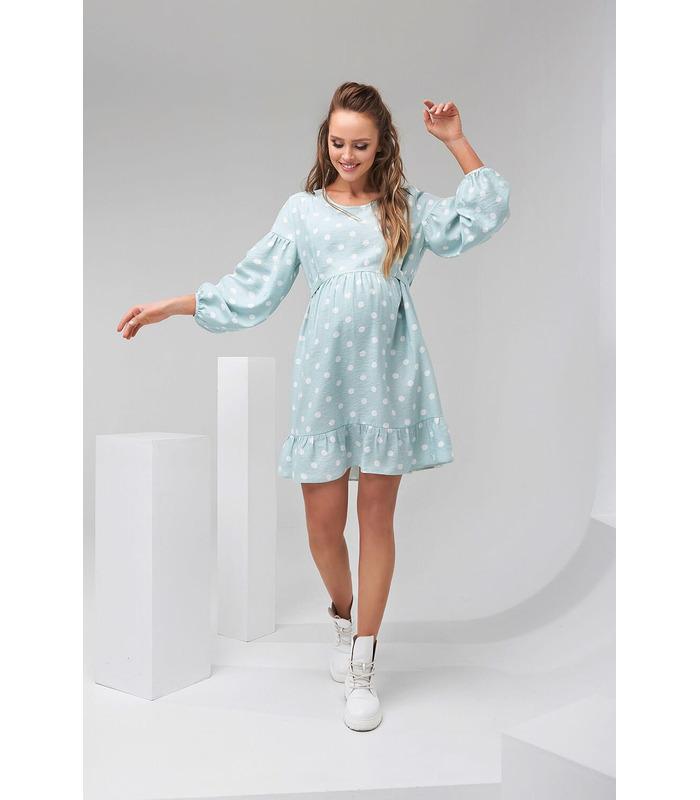 Сукня Дотс, весняеа сукня в горох вагітним та годуючим