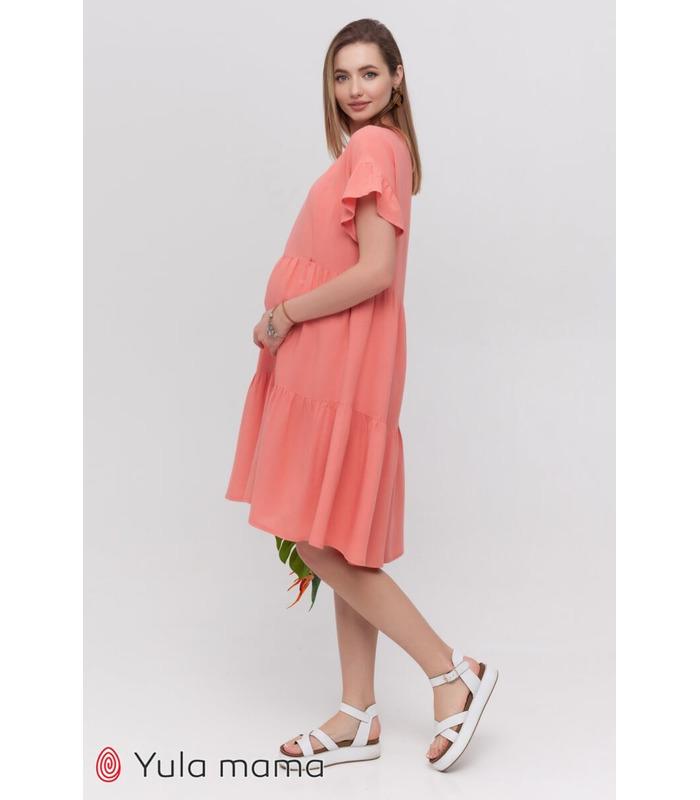 Сукня Аннабель KO, коралове літнє плаття вагітним та годуючим