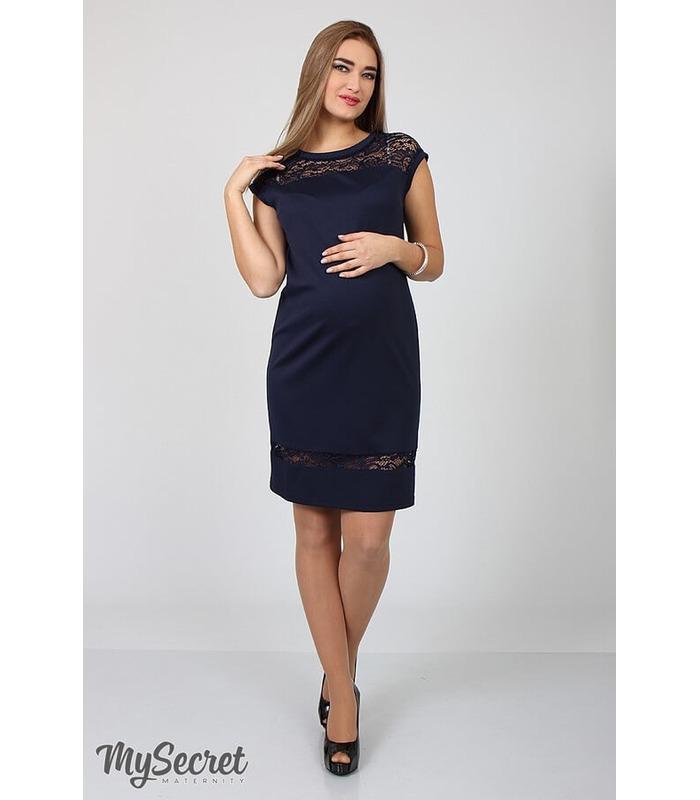 Сукня Веста, нарядное синее платье беременным