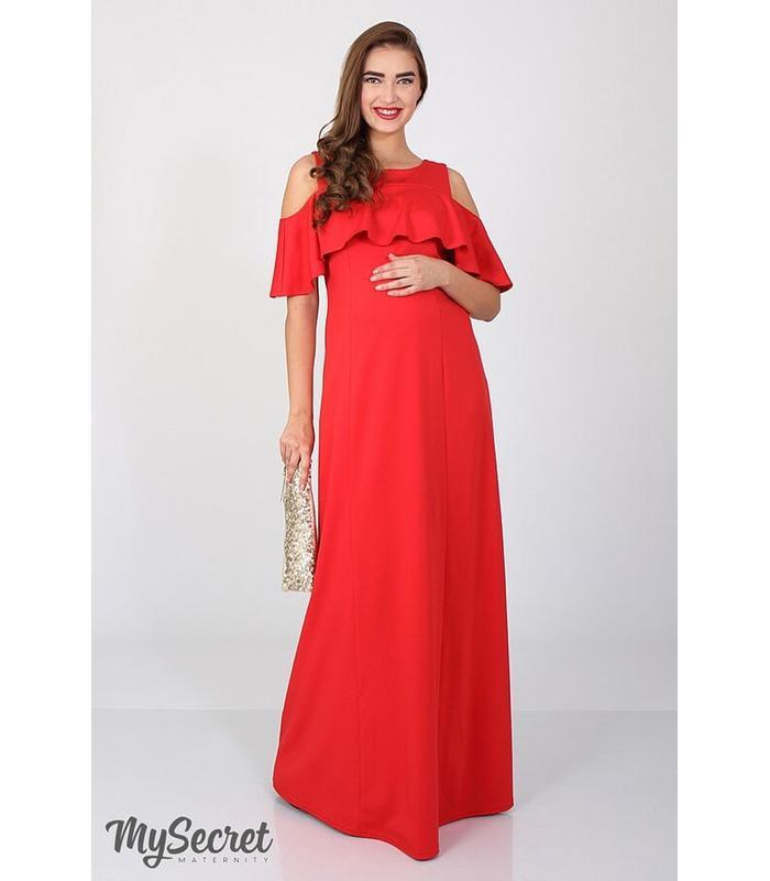 Сукня Делікейт, красное вечернее платье для беременных и кормящих