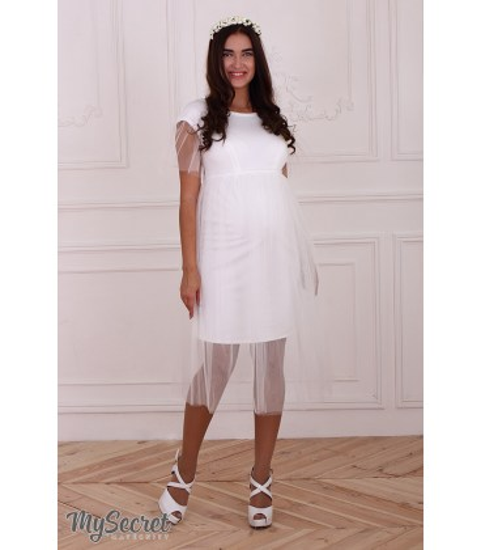 Платье Дороти, белое платье беременным и кормящим