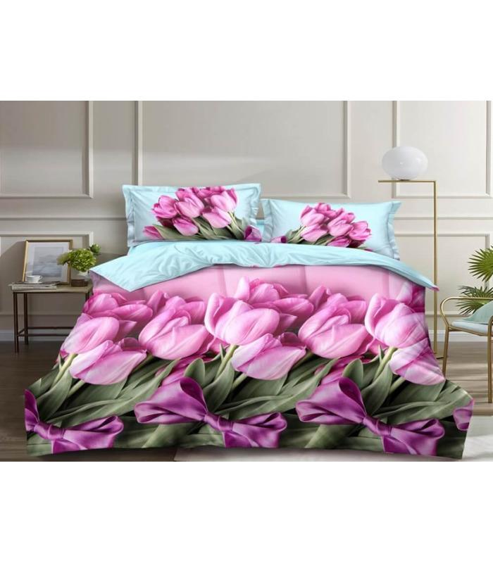 Комплект постельного белья Букет ᗍ сатин ※ Украина, натуральная ткань