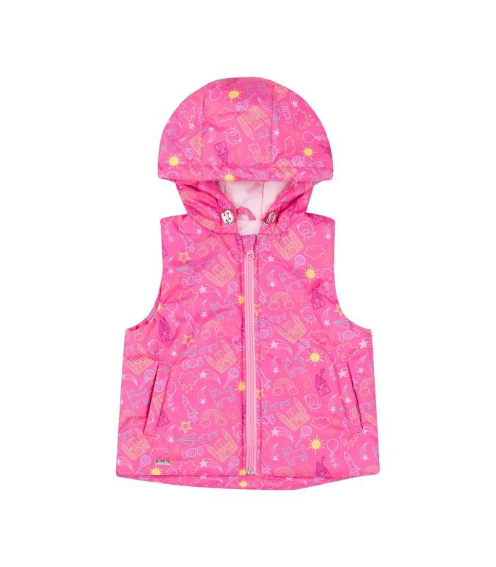 Жилет детский ЖЛ44 MA, розовая детская жилетка