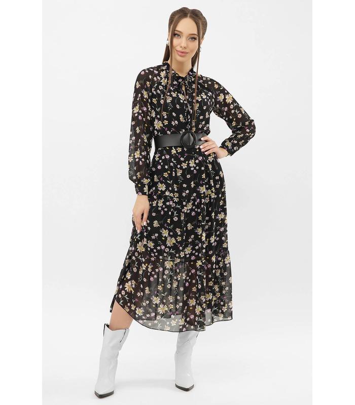 Сукня Маріетта CС, шифонове плаття у квіточку