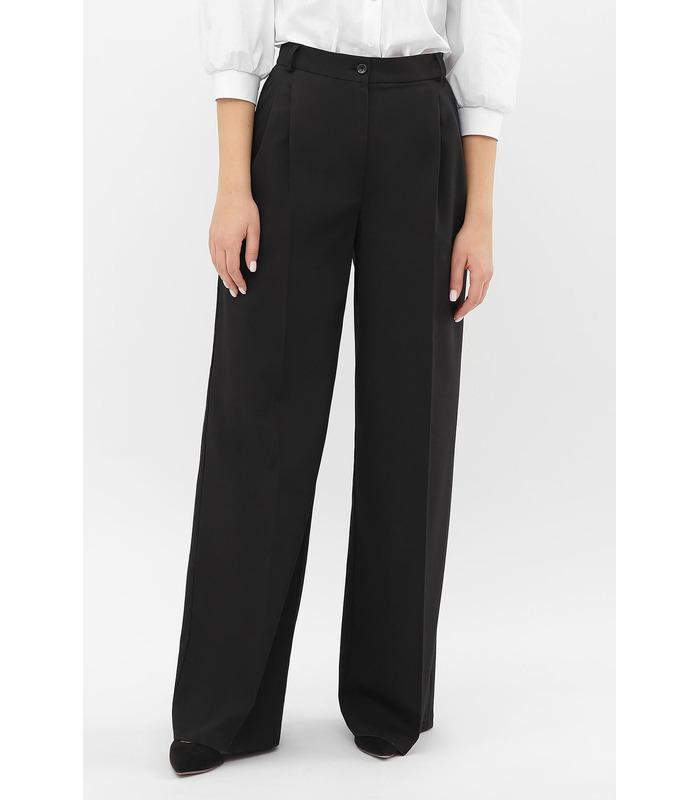 Брюки Бенні CH, чорні широкі жіночі брюки