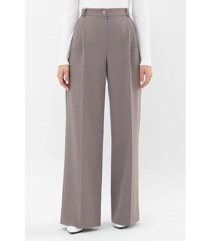 Брюки Бенні GR, жіночі широкі сірі брюки