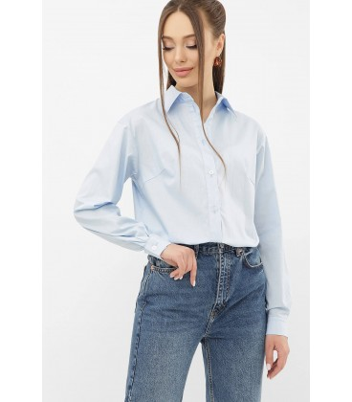 Блуза Пайра BB, блакитна жіноча сорочка