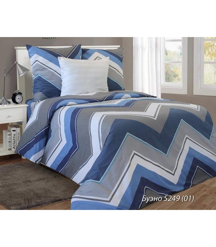 Комплект постельного белья Bueno blue ᐉ бязь белорусская, Украина