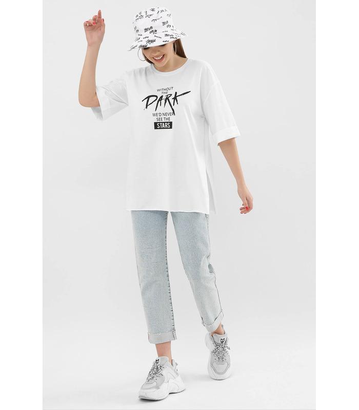 Футболка VL 0003 WH, белая футболка с надписью