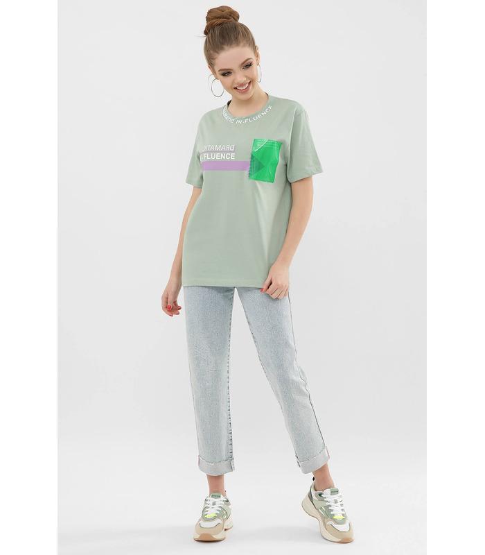 Футболка VR-Y 6047 PH, зеленая футболка с принтом