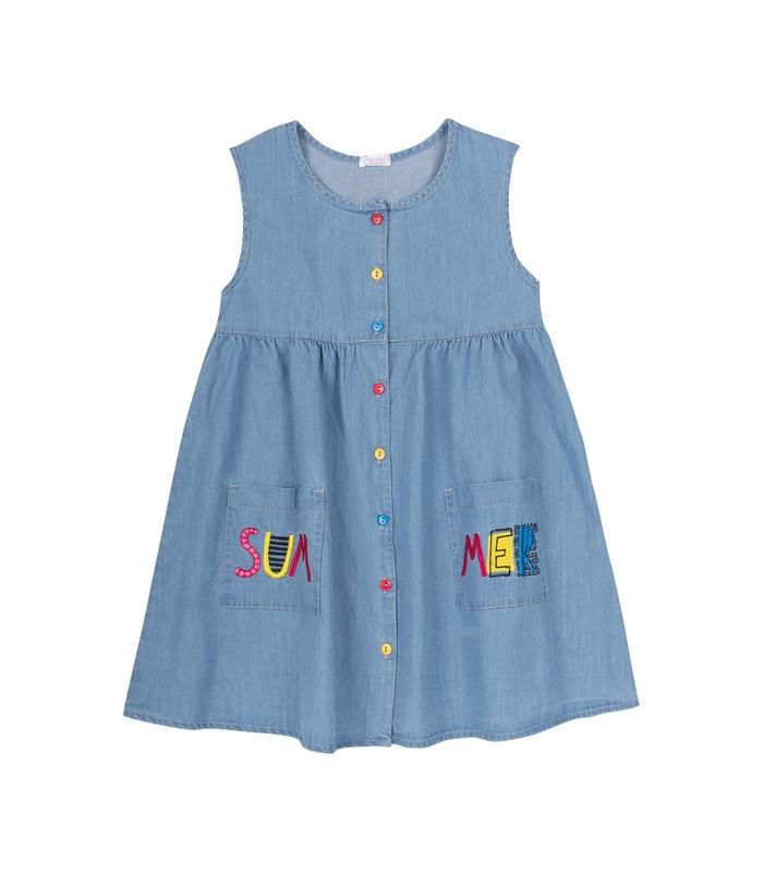 Платье детское ПЛ310 YE, джинсовое платье девочкам