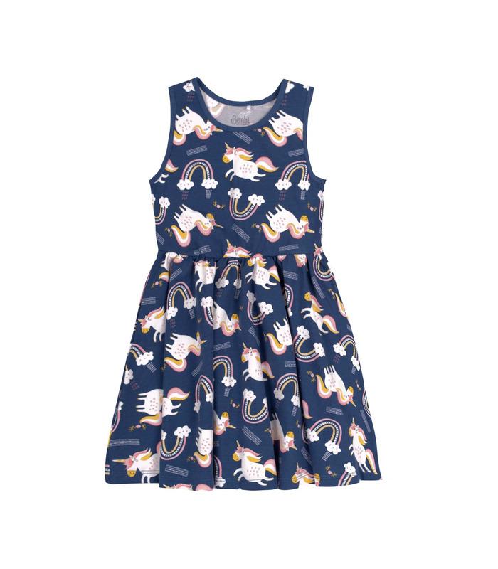 Сукня дитяча ПЛ318 TS, дитяча сукня з єдинорогами