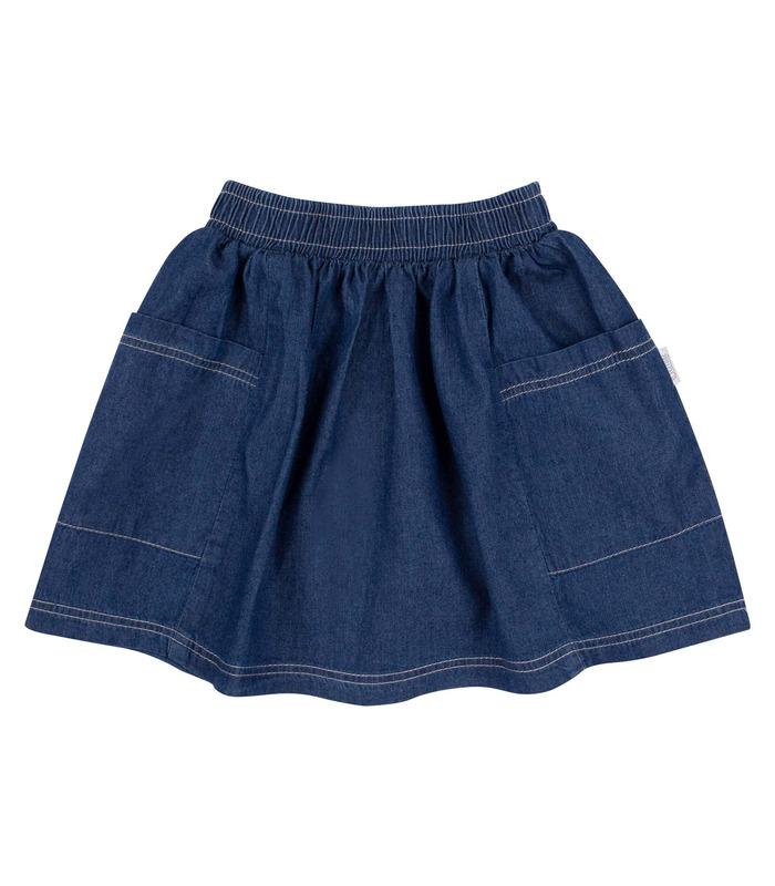 Юбка детская ЮБ102, джинсовая детская юбка